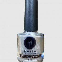 Saga professional гель-краска для стемпинга серебро