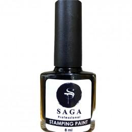 Saga professional гель-краска для стемпинга черная