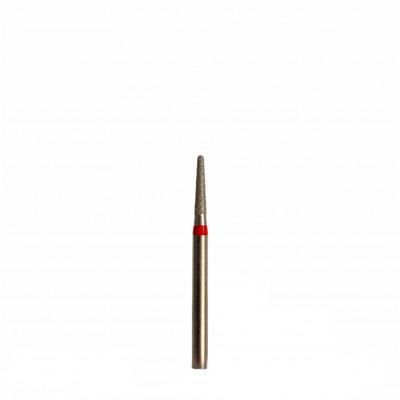 Алмазная насадка (бор конусный куполообразный красный 514.018)