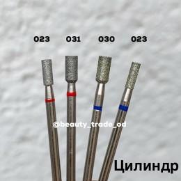 Алмазная насадка (цилиндр прямой красный 023)