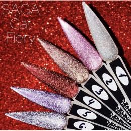 Saga professional гель лак CAT FIERY 8 мл 1