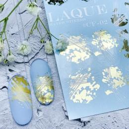 Слайдер-дизайн Laque Stikers Cf02 золото и белые полоски