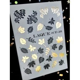 Слайдер-дизайн Laque Stikers Cf10 золото и черные