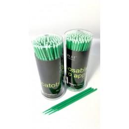 Микробраши для ресниц (100шт зеленые)